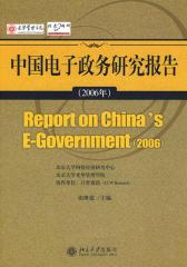 中国电子政务研究报告(2006年)(仅适用PC阅读)