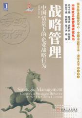 战略管理:中国情景下的企业战略行为
