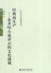 经典再生产——金圣叹小说评点的文化透视(仅适用PC阅读)