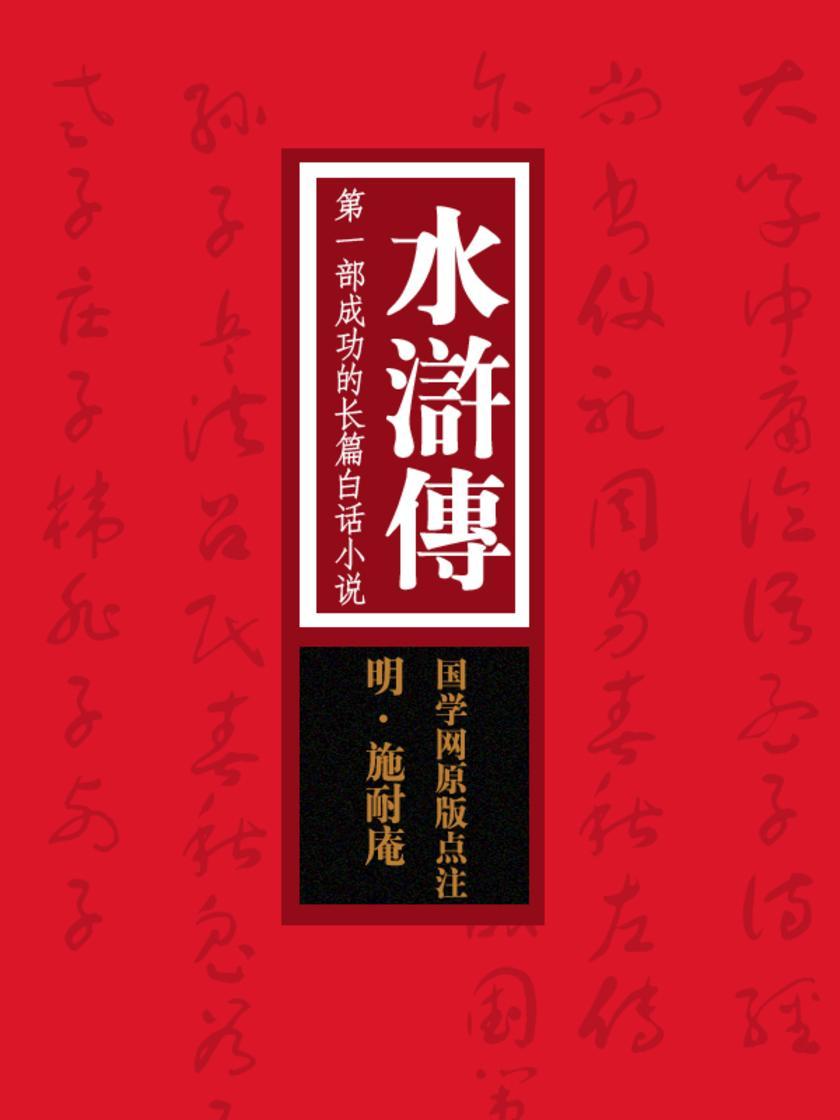 水浒传:第一部成功的长篇白话小说(国学网原版点注)