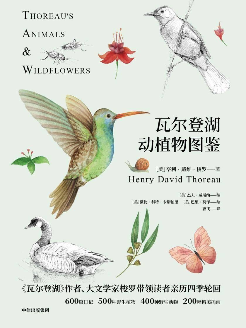 瓦尔登湖动植物图鉴:动物篇+植物篇(2册)