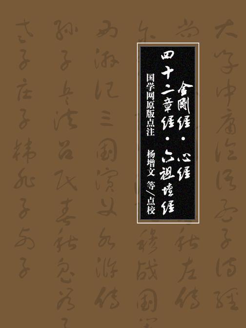 金刚经·心经·四十二章经·六祖坛经(国学网原版点注,杨增文等点校)(全套4本)