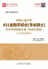 中国人民大学431金融学综合[专业硕士]历年考研真题汇编(含部分答案)【7小时高清视频】