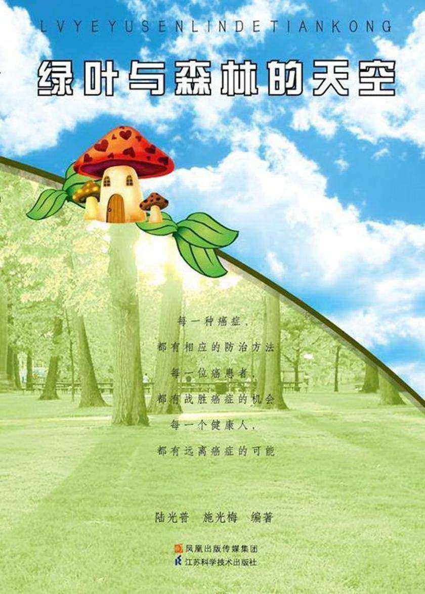 绿叶与森林的天空