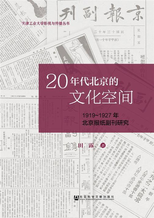 20年代北京的文化空间:1919~1927年北京报纸副刊研究(天津工业大学影视与传播丛书)