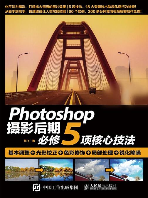 Photoshop摄影后期必修5项核心技法 基本调整+光影校正+色彩修饰+局部处理+锐化降噪