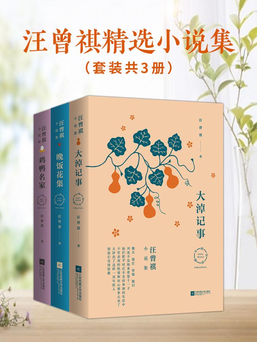 汪曾祺精选小说集:大淖记事+晚饭花集+鸡鸭名家(套装共3册)