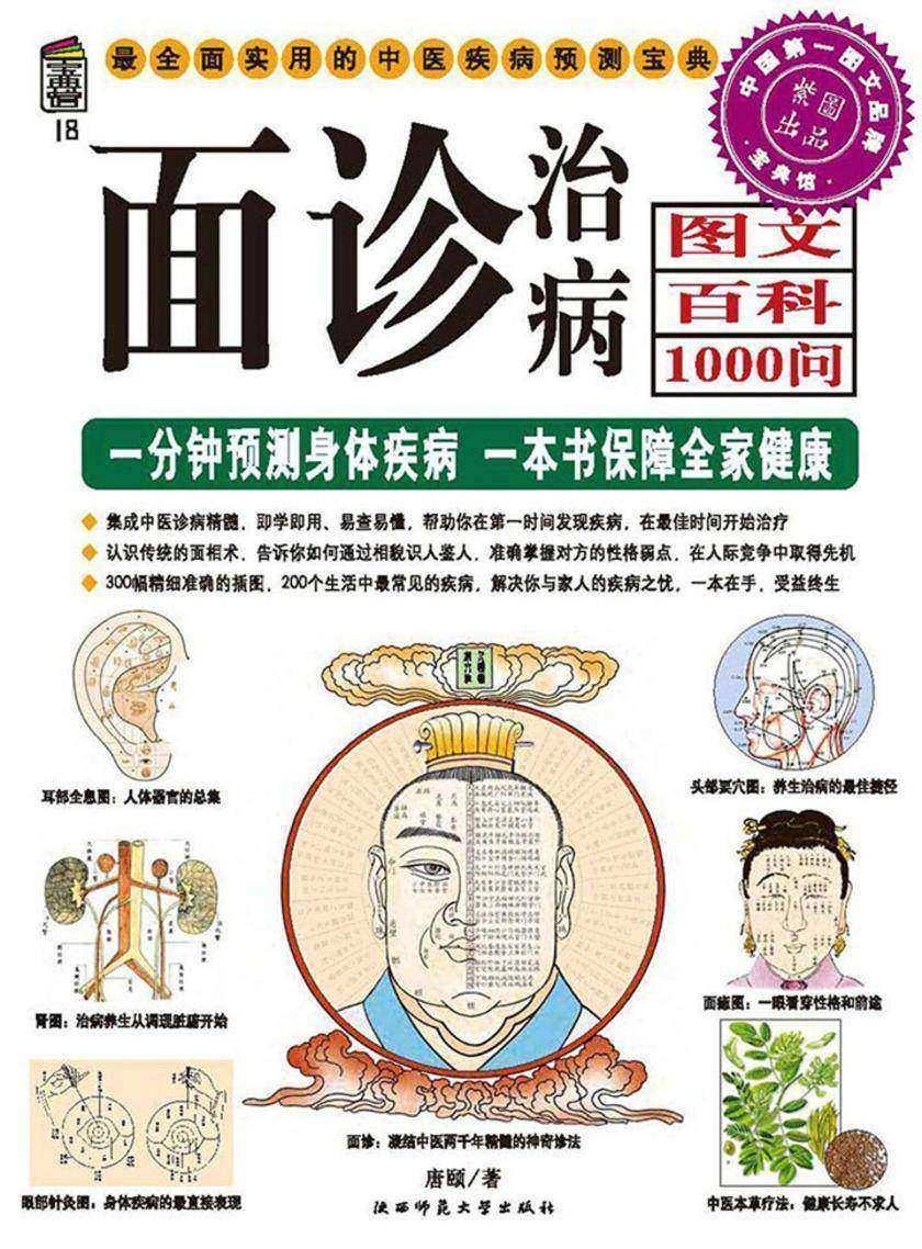 面诊治病图文百科1000问