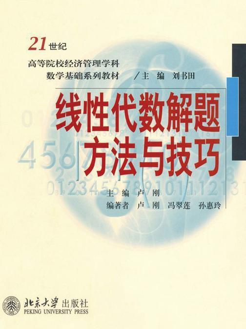 线性代数解题方法与技巧(21世纪高等院校经济管理学科数学基础系列教材)