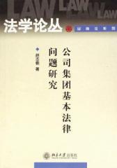 公司集团基本法律问题研究(法学论丛,民商法系列)