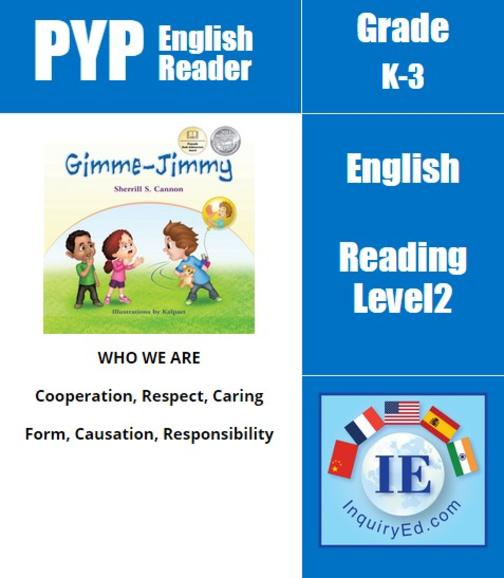 PYP: Reader-1- Manners & Self-Control Gimme-Jimmy