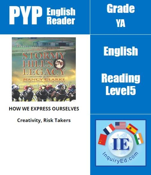 PYP: Reader-3- Horse Racing & Self-Confidence Stormy Hill's Legacy
