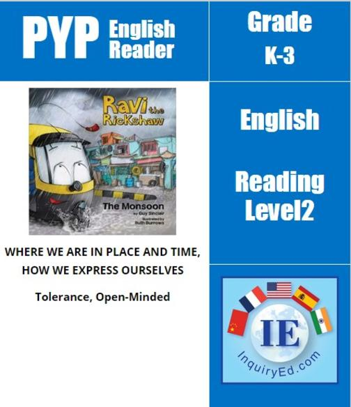 PYP: Reader-2- India, Monsoon Ravi the Rickshaw: The Monsoon