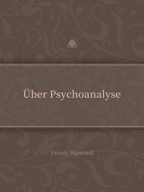?ber Psychoanalyse