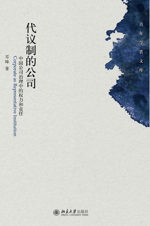 代议制的公司:中国公司治理中的权力和责任(青年学者文库)