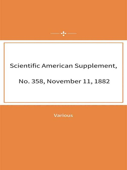 Scientific American Supplement, No. 358, November 11, 1882