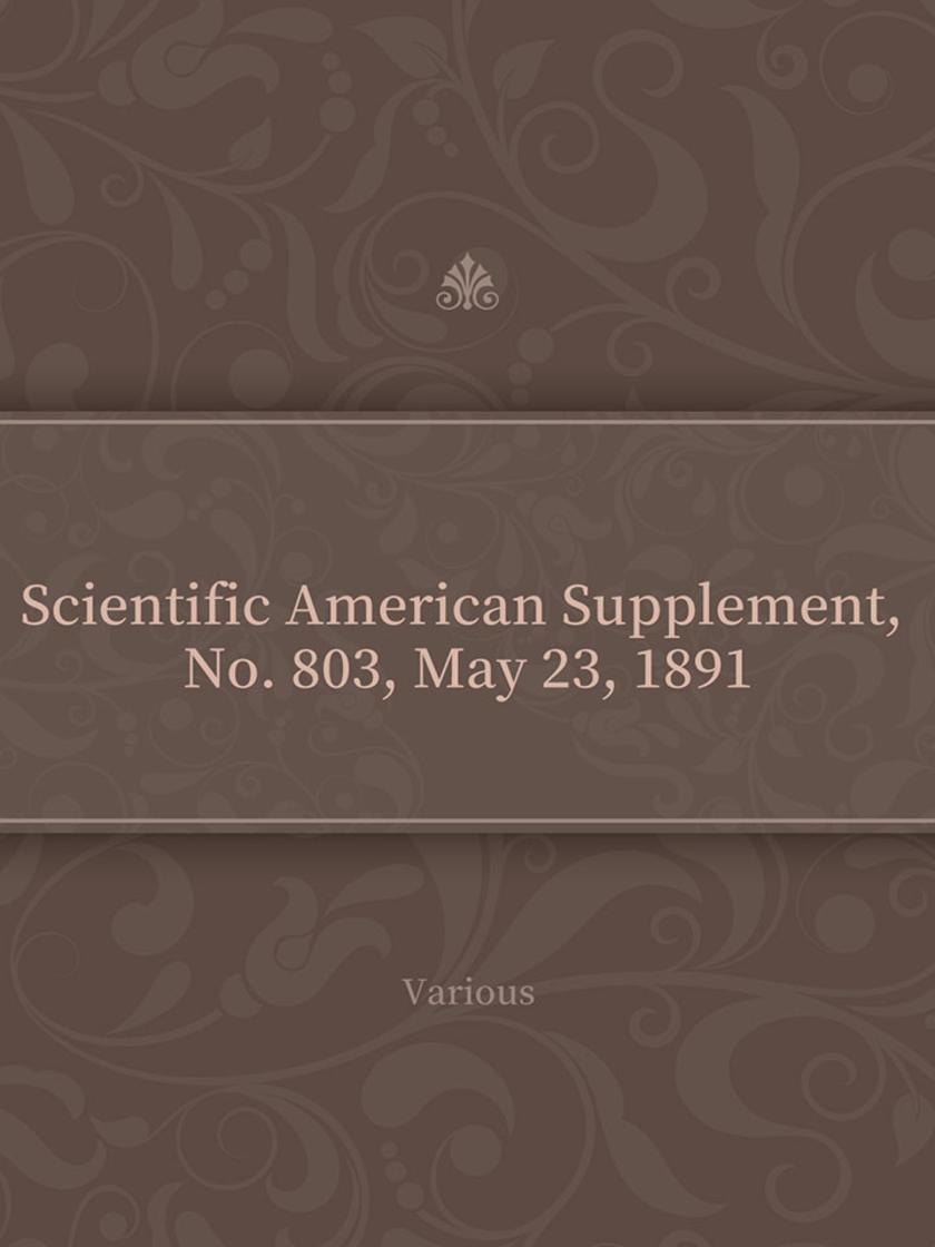 Scientific American Supplement, No. 803, May 23, 1891