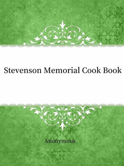 Stevenson Memorial Cook Book
