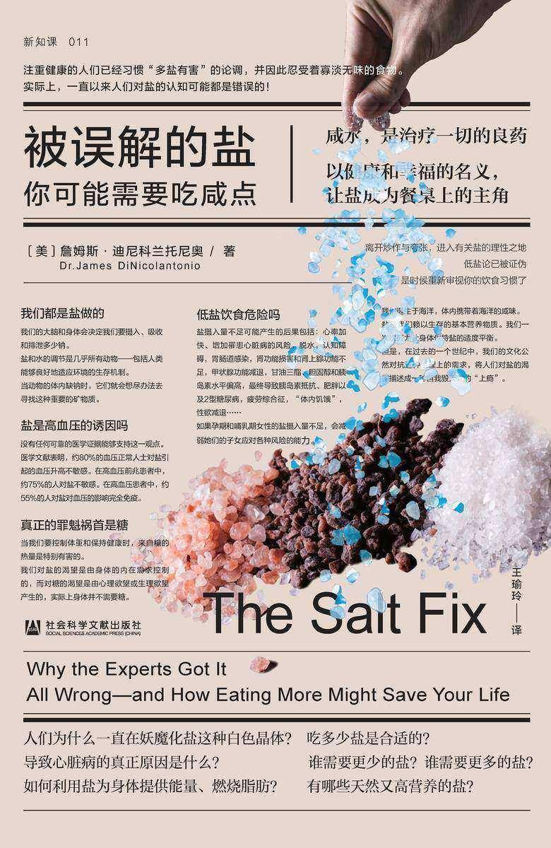 被误解的盐:你可能需要吃咸点【美亚排名榜首,以健康和幸福之名,让盐成为餐桌上的主角】 (方寸系列)
