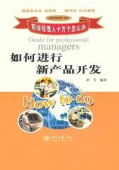 职业经理人十万个怎么办:如何进行新产品开发 (职业经理人十万个怎么办·综合管理类:01)