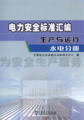 电力安全标准汇编 生产与运行 水电分册