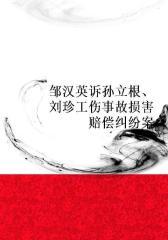 邹汉英诉孙立根、刘珍工伤事故损害赔偿纠纷案