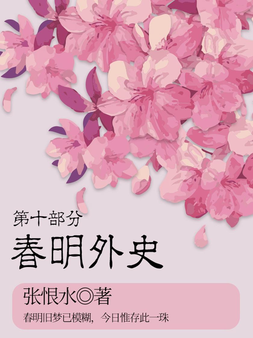 张恨水经典作品:春明外史·第十部分