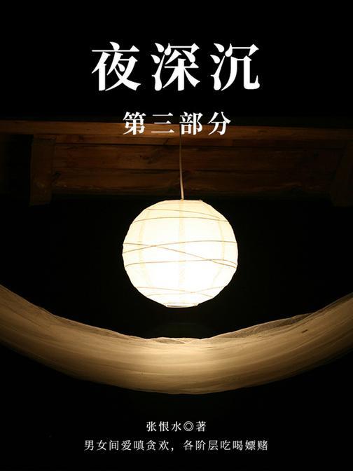 张恨水经典作品:夜深沉·第三部分