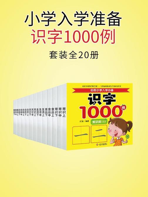 小学入学准备识字1000例(全20册)