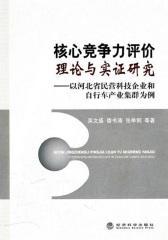 核心竞争力评价理论与实证研究——以河北省民营科技企业和自行车产业集群为例(仅适用PC阅读)