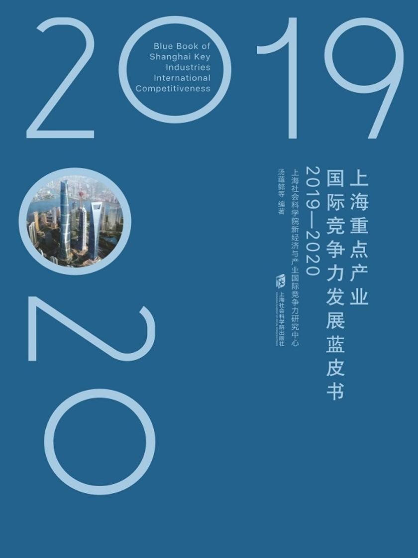 上海重点产业国际竞争力发展蓝皮书(2019—2020)