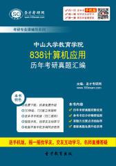 中山大学教育学院838计算机应用历年考研真题汇编