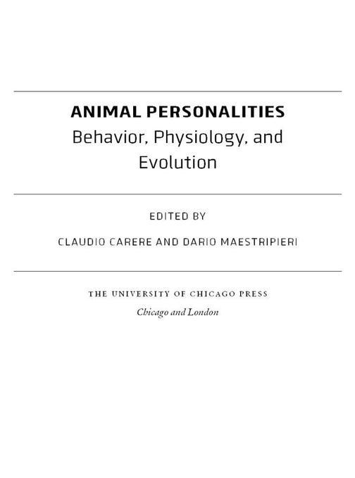 Animal Personalities