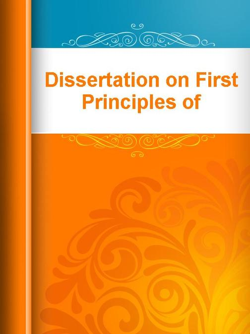 Dissertation on First Principles of Government