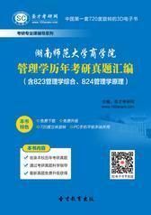 湖南师范大学商学院管理学历年考研真题汇编(含823管理学综合、824管理学原理)