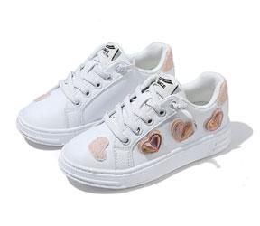 百丽Belle童鞋女童爱心小白鞋